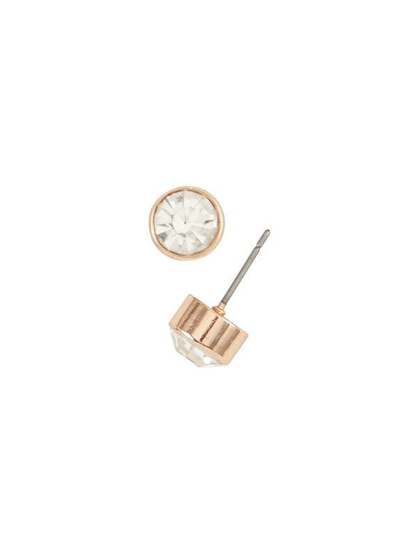 Victoria Stud Rose Gold Earrings